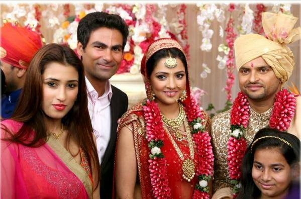 Mohammad Kaif and his family at Raina's Wedding