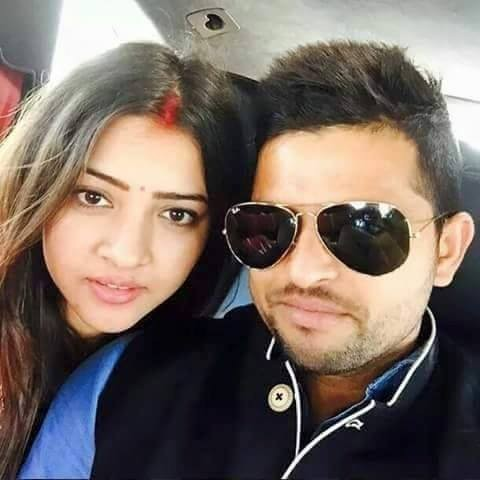 Love Pair Priyanka Chaudhary and Suresh Raina