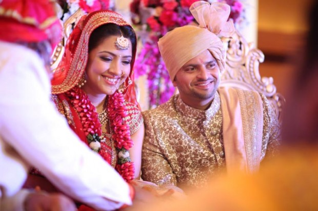 Raina and Priyanka both looking gorgeous on their wedding