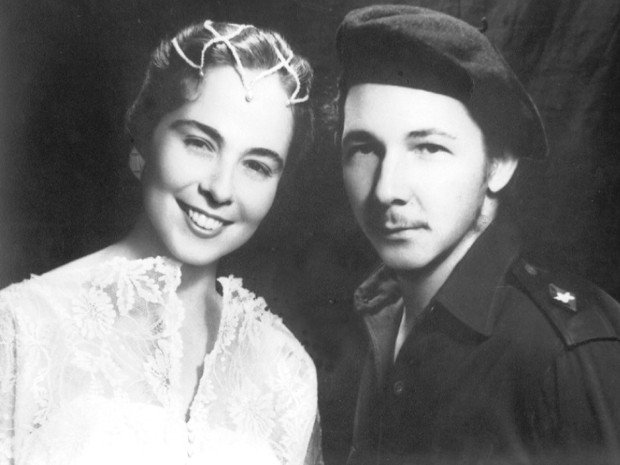 Raul Castro and His Wife
