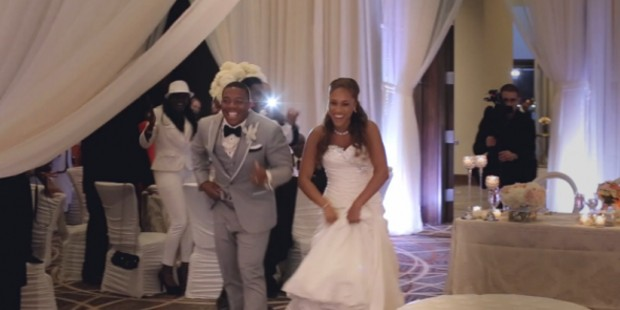 Ray and Janay on their wedding day