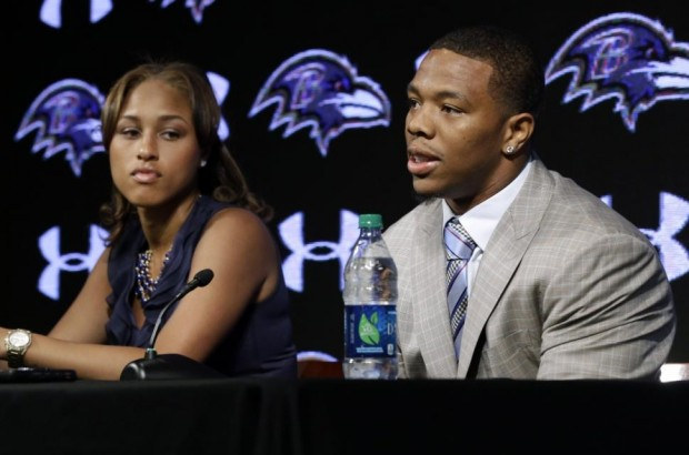 Ray Rice with his wife