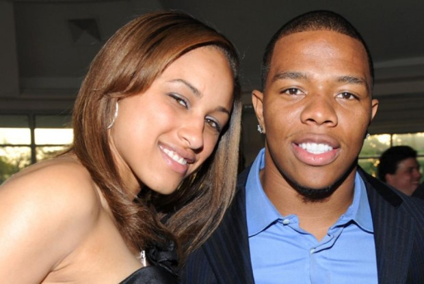Janay Palmer with her husband Ray Rice