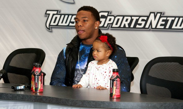 Ray Rice with his daughter Rayven Rice
