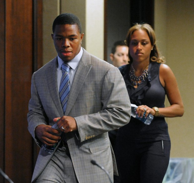 Janay Palmer and Ray Rice