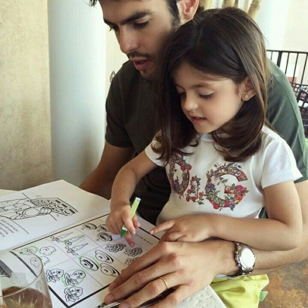 Ricardo Kaka and his daughter Isabella