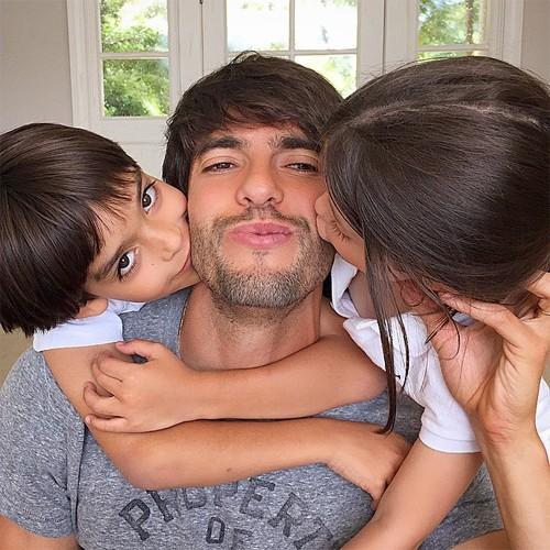 Ricardo Kaka kids Luca and Isabella