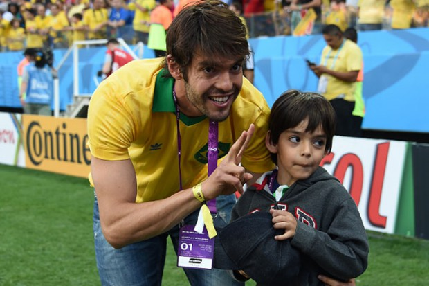Ricardo Kaka and his son Luca
