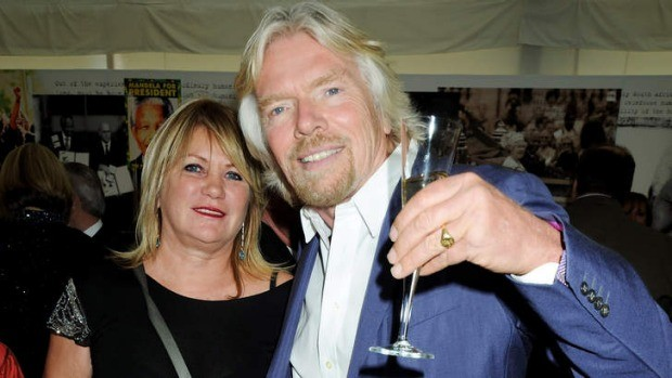 Richard Branson with his wife Joan Templeman