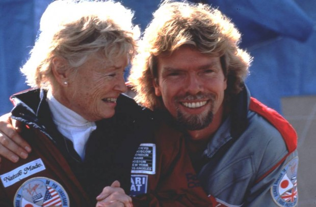 Richard Branson with his mother Eve Branson