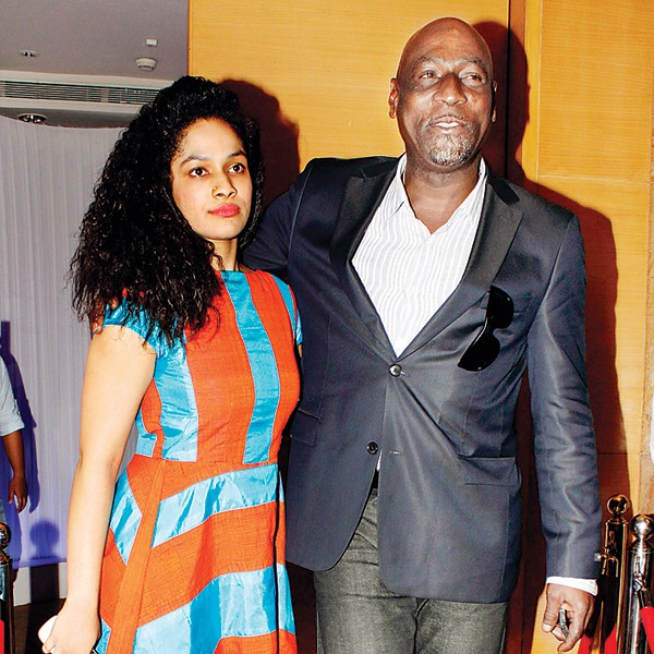 Viv Richard with his daughter Masaba Gupta
