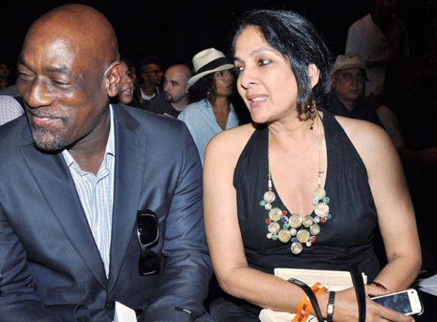Viv Richards with his former spouse Neena Gupta