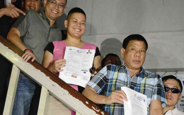 Rodrigo Duterte with His Daughter Sara