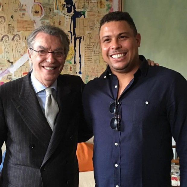 Ronaldo with His Father Nélio Nazário de Lima Sr
