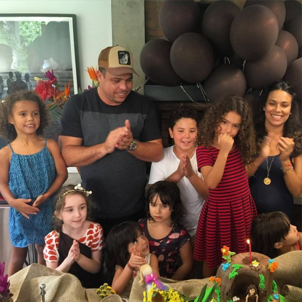 Ronaldo at his daughet Sophia's birthday