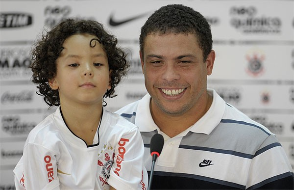 Ronaldo with his son Alex
