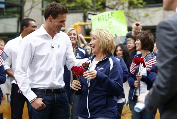 Ryan Lochte with his mom Ileana Lochte