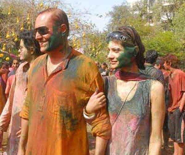 Sabber and Tania's Holi celebrations
