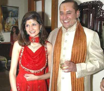 Sabeer Bhatia and his wife Tania Sharma