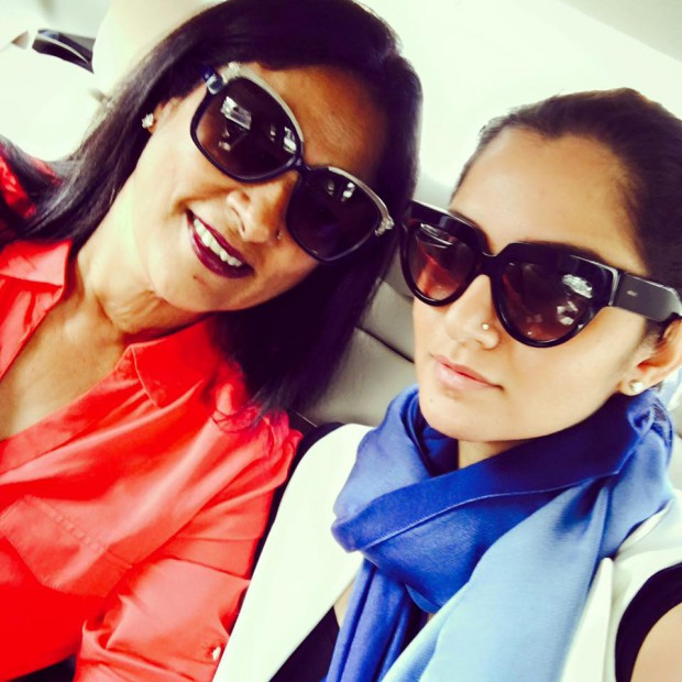 Sania Mirza with her mom Nasima Mirza