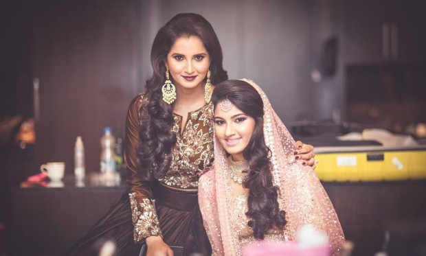 Sania Mirza and her sister Anam Mirza