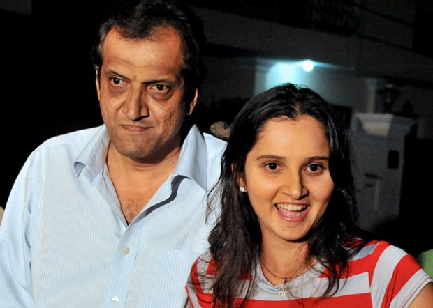 Sania Mirza with her father Imran Mirza