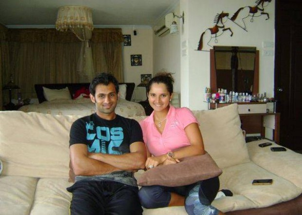 Sania and Shoaib in sania's house