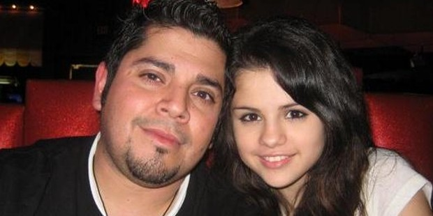 Selena Gomez with her father Ricardo Joel Gomez