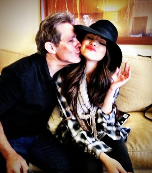 Selena with her Grandpa
