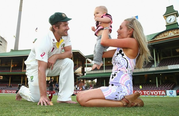 Shane Watson Playing With His Daughter