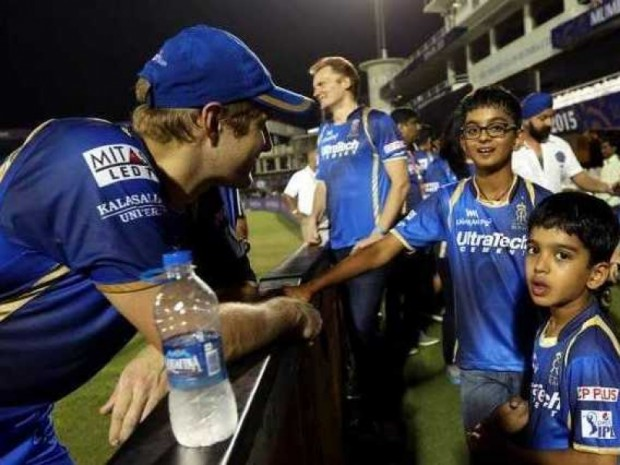 Rahul Dravid Sons with Shane Watson