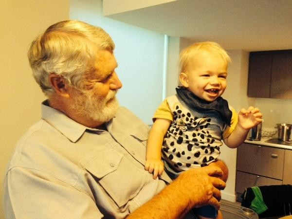 Shane Watson's Father Bob Watson with His Grandson William Watson