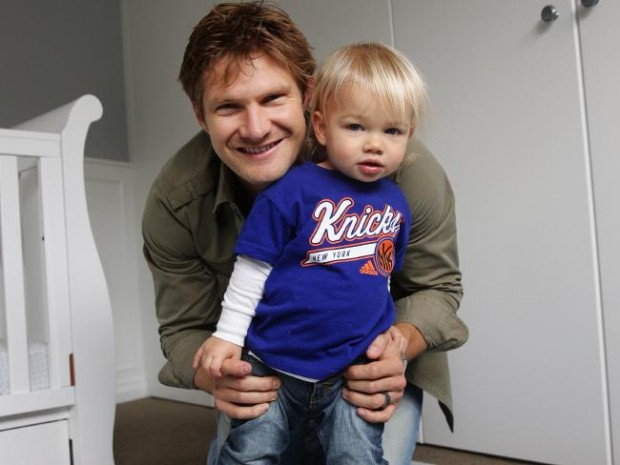 Shane Watson with His Son on Father's Day