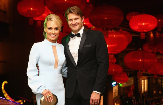 Shane Watson with His Wife at Allan Border Medal Cermony
