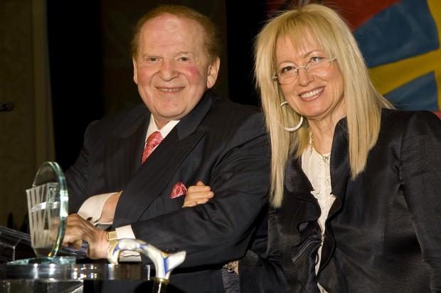 Sheldon and Miriam Adelson at the Woodrow Wilson Awards