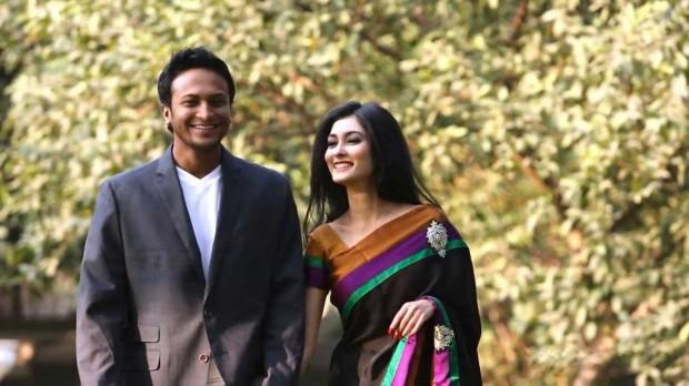 Shakib Al Hasan and His Wife