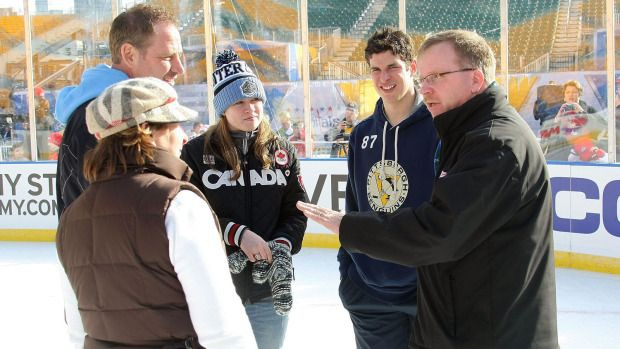 Coach Paul with Sidney Crosby and his family