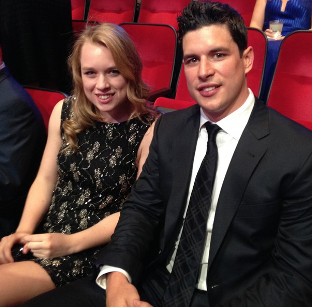 Sid Crosby and his sister Taylor at NHL awards