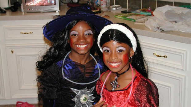 Simone Biles and her sister Adria Biles