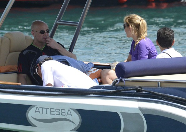 Steffi and Agassi on a vacation in Italy