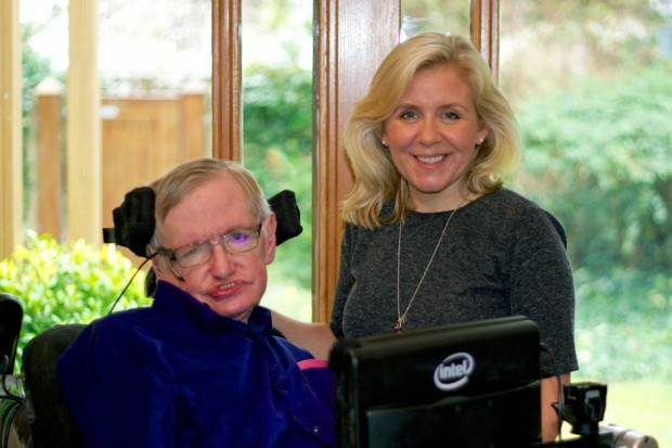 Lucy Hawking with her father Stephen Hawking
