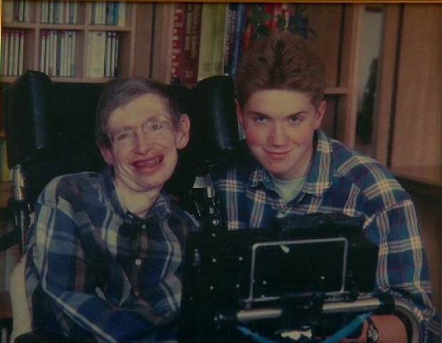 Timothy Hawking pictured with his dad Stephen Hawking
