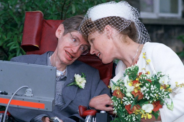 Elaine Mason and Stephen Hawking wedding