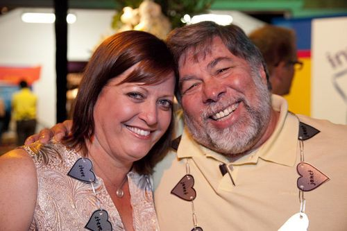 Janet Hill and her husband Apple co-founder Steve Wozniak