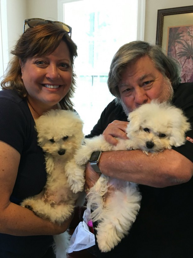 Steve and Janet with their pet dogs Zelda and Ziggy