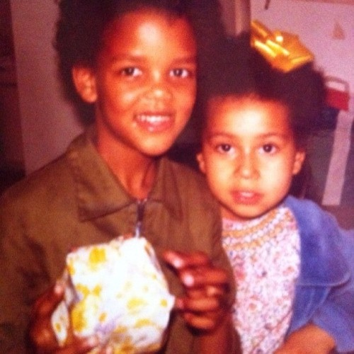 Stromae with his sister
