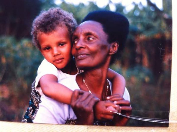 Stromae with his grand mother