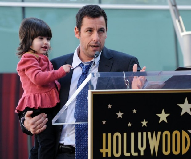 Adam and his daughter Sunny Sandler