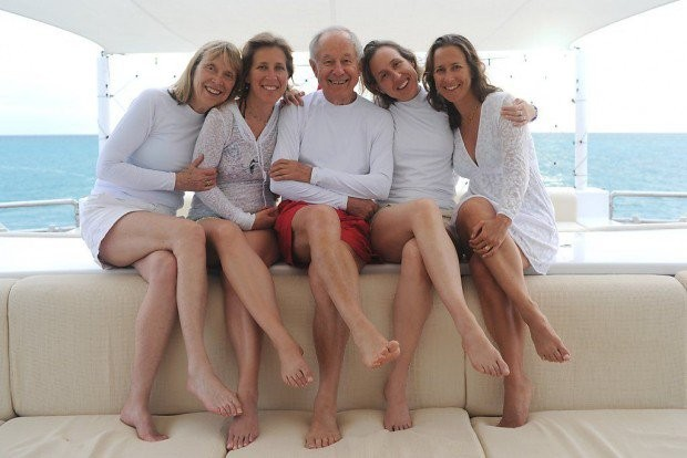 Susan Wojcicki With Her Parents and Sisters
