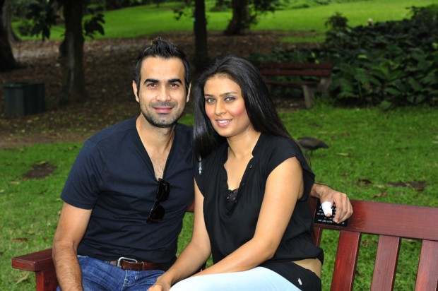 Imran Tahir With His Wife